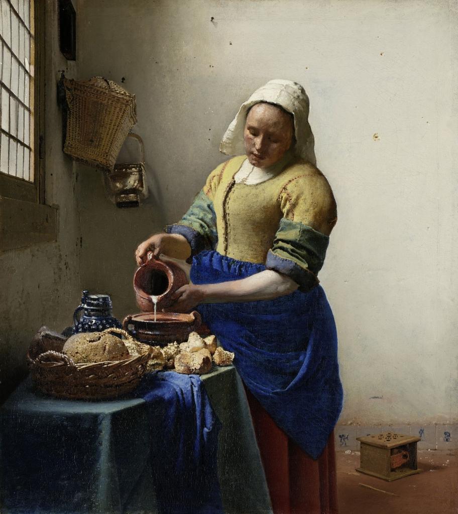 La lechera de Johannes Vermeer 1660